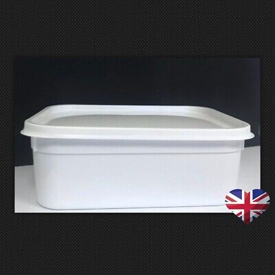 20 X 2 Litre Plastic Ice Cream Container Tubs Food Storage With Lids