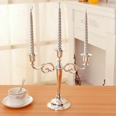 Metal Candle Holders Arms Stand Pillar Candelabra Wedding Decoration Candlestick