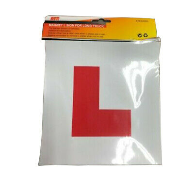 Magnetic L Plates Learner Driver Motorcycle Car Sticker Safe Legal Size Set Of 2