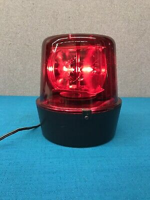 Vintage Red Beacon Rotating DJ Light - Nice