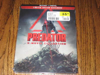 Predator 3-Movie Collection Limited Edition Blu-ray  SteelBook +Digital