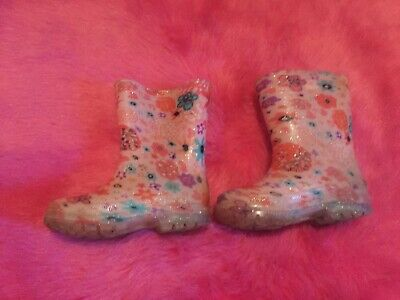 Baby girl pink floral light up wellies size 7 Infant