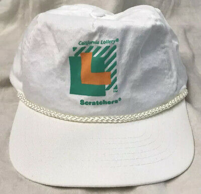 adjustable vint CA CALIFORNIA Lottery cap Scratchers hat style fit auth wear !!
