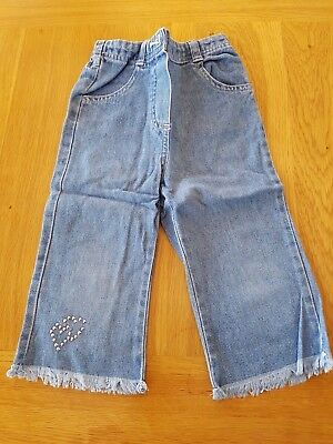 Cherokee 'Heart' Jeans - 3-4 years - (two gem missings)- Combined P&P Offered