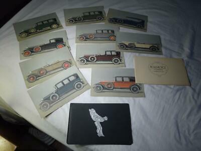 "1920s Old Advertising ""ROLLS ROYCE SALES BROCHURE""10 Color Plates GREAT GRAPHICS"