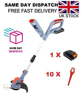 20V Electric Cordless Garden Strimmer Grass Trimmer Same Day Dispatch Ba02