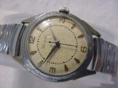 Vintage large antique Art Deco BULOVA US OCCUPIED ZONE GERMANY mens watch
