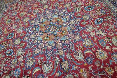 9'8 x 13'7 Signed Hand Knotted Wool Area Rug 10 x 14 Handmade Oriental Carpet