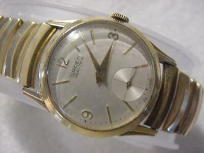 Vintage GOLD FD large antique Art Deco GRUEN mens watch