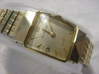 Vintage GOLD FD large antique Art Deco WITTNAUER CURVEX mens watch