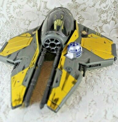 STAR WARS ANAKIN SKYWALKER Jedi Fighter Ship STARFIGHTER Hasbro Lucasfilm 2004