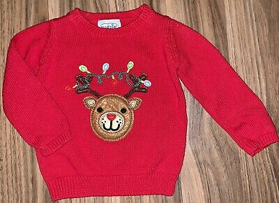 Mud Pie Holiday Oatmeal Reindeer Sweater  2T-3T 4T-5T