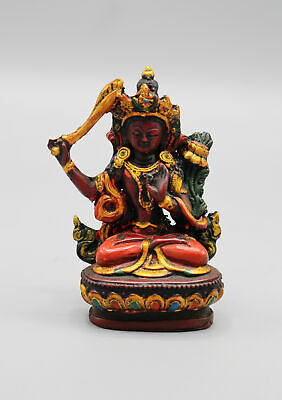 Resin Hand-painted Tibetan Manjushree Statue