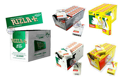 600 Rizla Green Rolling Papers & 600 Swan Extra/ Ultra/ Slim/Menthol Filter Tips