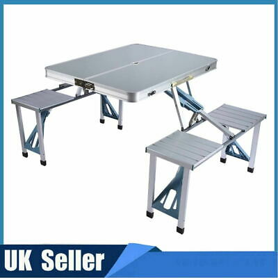 Portable Catering Camping Heavy Duty Folding Trestle Table Picnic BBQ Outdoor