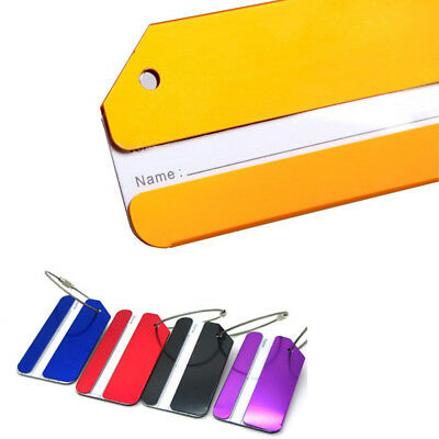 High Quality Metal Travel Luggage Baggage Suitcase Tags Label Address Holder^