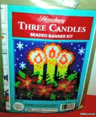 """Three Candles"" Beaded Banner Kit"