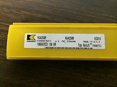 5 pcs KENNAMETAL  NG4250R  KC810  CARBIDE  GROOVING  INSERTS
