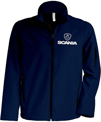 SCANIA Quality Softshell Jacket Coat Black Embroidered Sizes S-5XL