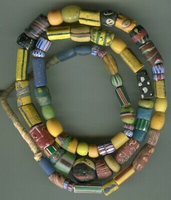 African Trade beads Vintage Venetian glass beads nice mixed old assorted beads