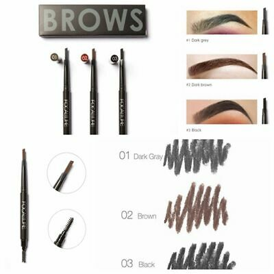 Makeup Waterproof Long-lasting Eyebrow Pencil with Brush Double Heads Brow Pen