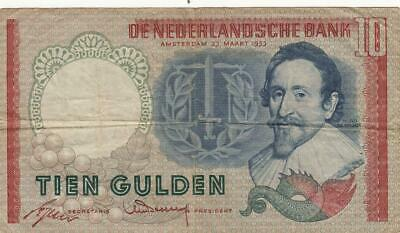 NETHERLANDS 10 GULDEN P99 1997 EURO BIRD UNC DUTCH MONEY EUROPEAN BILL BANK NOTE