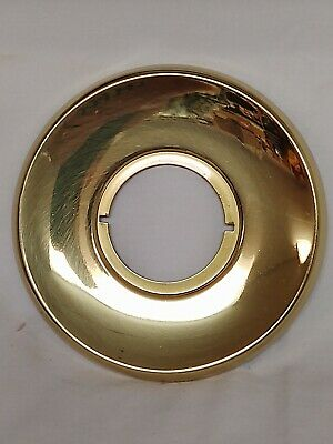 Vintage Nos Arrow R200 Door Lock Round Escutcheon Plate Polished Brass Schlage