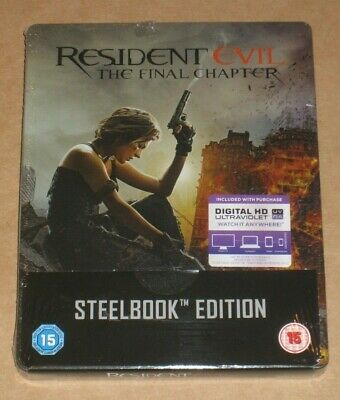 Resident Evil The Final Chapter UK Blu Ray Steelbook New Sealed