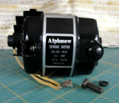 NEW Alphasew MOTOR for Singer 221 & 222 Featherweight - 220/240 VOLT (UK)