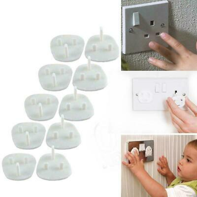 20x Plug Socket Covers Babies Children's Safety Protector for UK 3 Pin Sockets