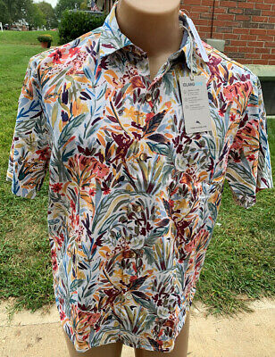 Tommy Bahama Island Zone Men's Hawaiian Camp Button Front Shirt Size Large NEW