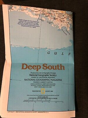 National Geographic Magazine August 1983 Map The Making Of America Deep South