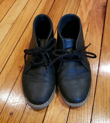 The Childrens Place Black Boys Boots Lace Up Ankle Dress Shoes Size 1