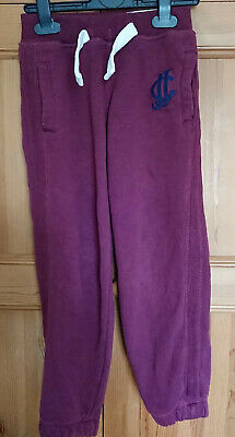 Boys J Jeans Jogging Bottoms Age 5-6 Maroon