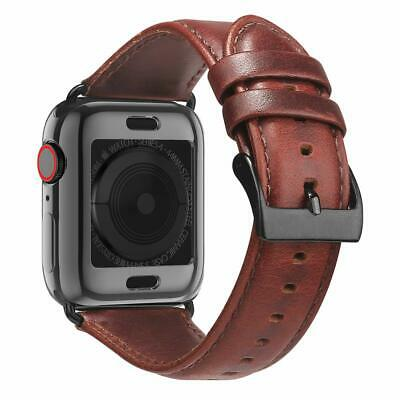 Apple Watch Genuine Leather Band + Case 42mm 44mm iWatch Strap Series 5 4 3 2 1