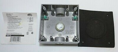 Bell Outdoor Grey Aluminum Weatherproof 2 Gang Outlet Box Rated for Wet Location