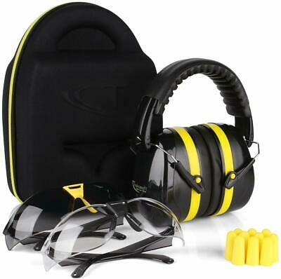 EAR /& EYE PROTECTION COMBO MUFFS FIT OVER RX GLASSES HEARING NOISE RANGE G7CBR