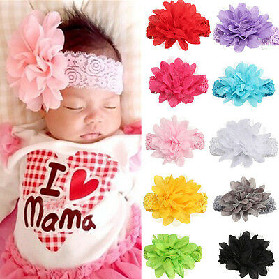 Girl Baby Headband Toddler Lace Bow Flower Hair Band Headwear Decor Gift