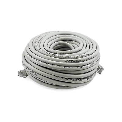 PTC Cat 6 Patch Gray Ethernet Internet LAN Network Cable 50 ft.