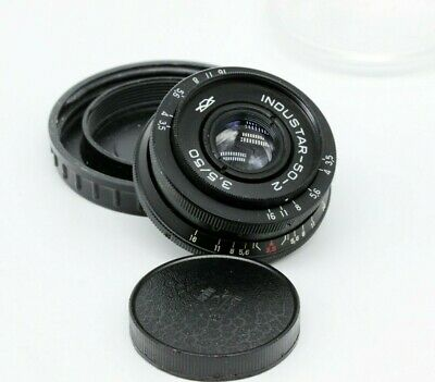 Industar 50-2 3.5/50 Vintage Pancake Lens SLR & Digital M42 mount portrait Retro