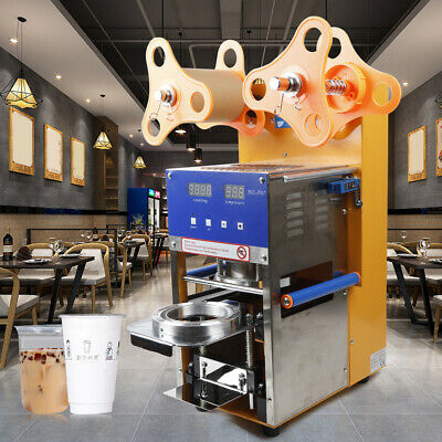 400W Fully Automatic Cup Sealer Sealing Machine Boba Tea Milk Coffee USA STOCK