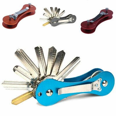 Aluminum Hard Oxide Key Holder Organize Clip Folder Keyring Keychain Pocket Tool