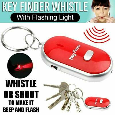 Red LED Torch Anti-Lost Key Finder Whistle Sound Control Find Locator Keychain