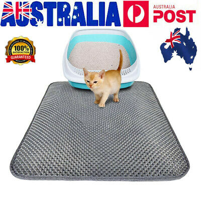Cat litter Mat - Double Layer Pad - Large Flexible Trapping for litter-Box HOT