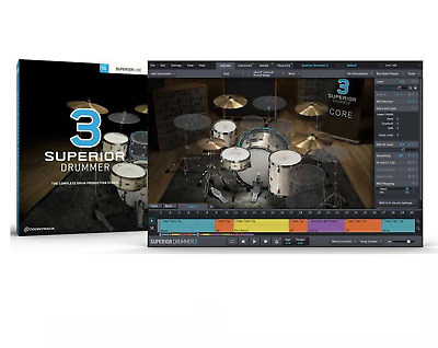 Toontrack Toon Track Superior Drummer 3.0 Virtual Drumming Software Pc&Mac Boxed