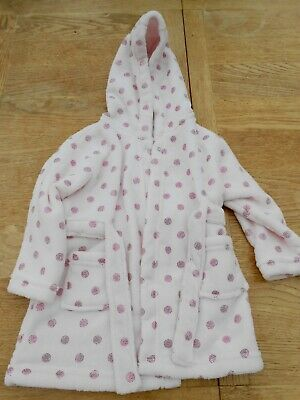 Girls 12-18 MONTHS Pink DRESSING GOWN BATH ROBE SUPER SOFT MATALAN with Sparkle