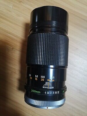 Canon FD 200mm f4 SSC Boxed