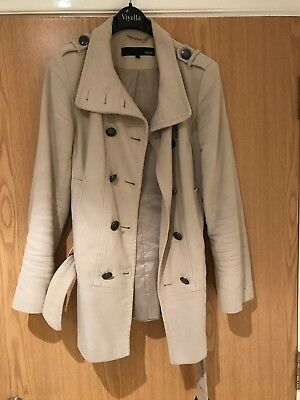 Cream Coat Jacket Trench Womens Ladies Size 8 Coat NEXT Quality