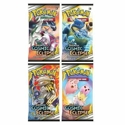Pokemon Cosmic Eclipse: 4 Sealed Booster Packs | Trading Card Game - Sun & Moon