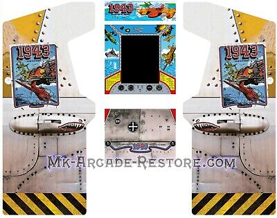 1943 Side Art Arcade Cabinet Artwork Graphics Decals Full Set